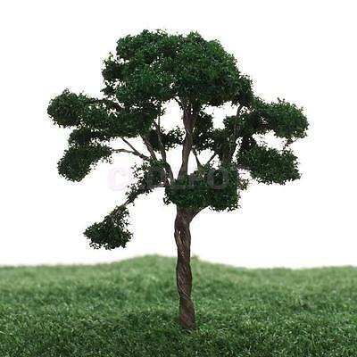 5pcs Dark Green Wargame Railroad Scenery Landscape Model Trees 1:100 Scale HO