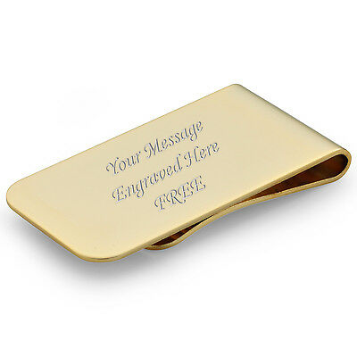 Personalised Engraved Gold Plated Money Clip Usher, Best Man, Groom Men's Gift