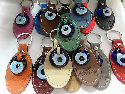 Handcrafted Turkish Evil Eye Nazar Pendant  key ring