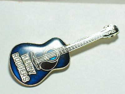 Vintage Kenny Rodgers Guitar  Pin  Blue (lg)