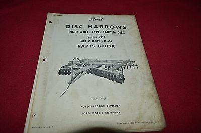 Ford Tractor 207 Disc Harrow Parts Book Manual CHPA