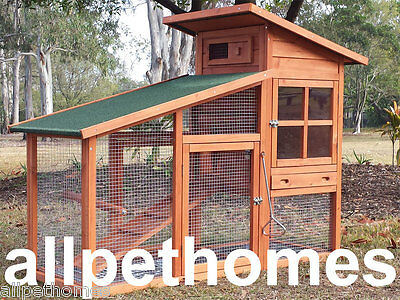 LARGE Chicken Coop Rabbit Hutch Ferret Cage Hen Chook House Guinea Pig Run G9