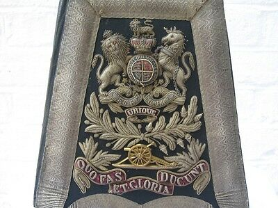 Rare English Royal Artillery Victorian Circ 1880's  Officers Sabretache.
