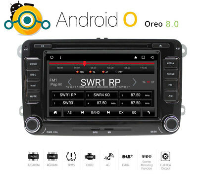 AUTORADIO für VW T5 MP3 Seat Skoda Golf Passat Bluetooth GPS DVD USB DAB+