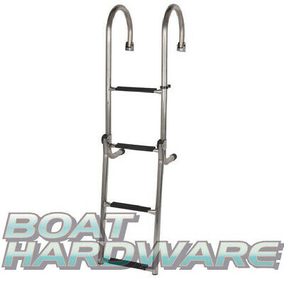 Gunwale 4 Step Ladder 316 Stainless Steel Boat Yacht 1180mm (710mm Folded)