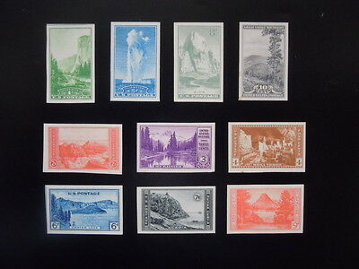 #756-765 1935 National Parks Year Issues Imperf  MNH