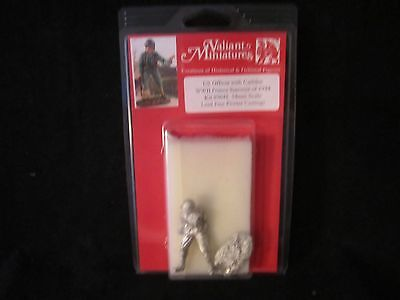 VALIANT MINIATURES 54MM US OFFICER WITH CARBINE WWII FRANCE SUMMER OF 1944 #9648
