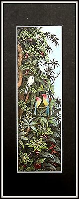 "Balinese Miniature Painting "" The Jungle"" (Highly Detailed)   2"" wide x 7"" high"
