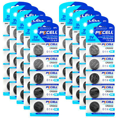 50 X New CR2032 2032 L14 3V Lithium Button Coin Cell Battery Wholesale Lot