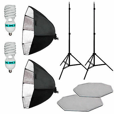"26"" Larger  2 Softbox Studio Video Photo Lighting Photography Light Kit"