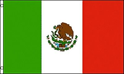Large 3' x 5' High Quality 100% Polyester Mexico Flag - Free Shipping