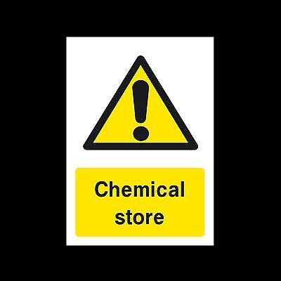 Chemical Store Sign, Sticker - All Sizes & Materials - Warning - Hazard (MISC53)