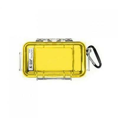 Pelican Case 1015 Dry Case /Snorkelers/Kayakers - Yellow w/ clear lid