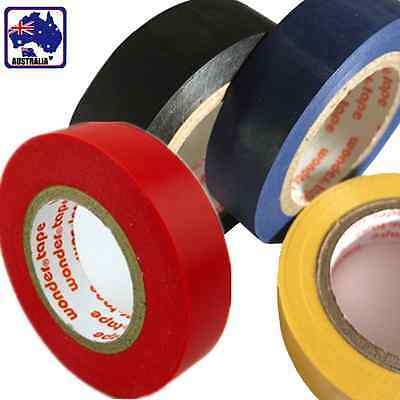 2x PVC Electrical Insulation Tape Insulating Seal 18m Blue Black Yellow TTAPE