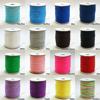 220 YARD 1mm Chinese Knot Nylon Shamballa Macrame Cord Braided Beading String