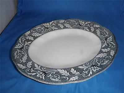 J&G Meakin English Ironstone Sterling Oval Serving Platter Renaissance Black 12""