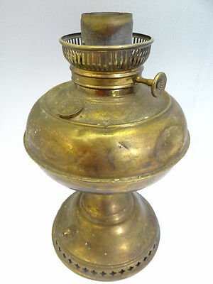 Vintage Used Old Metal Brass Rayo Converted Electric Oil Lamp Body Parts