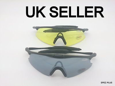 UV Protect Police Shooting Glasses Sunglasses Airsoft Yellow/ Black