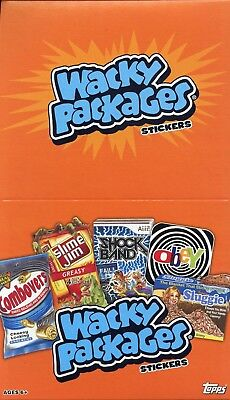 Wacky Packages Stickers Series Nine Jumbo Card Box