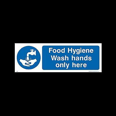 Wash hands only here - Sign, Sticker - All Sizes & Materials - (MISC1)