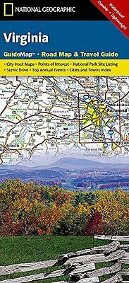Virginia: Guide Map, Road Map & Travel Guide by National Geographic Maps...
