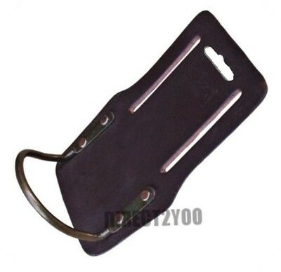 Rolson HAMMER FIXED LOOP Oil Tan Leather Tool Belt Holder Single Saddle Steel