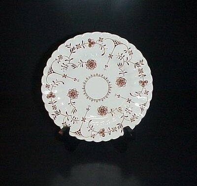 J.& G. Meakin Bread & Butter Plate Classic White Scandia England Brown Flowers