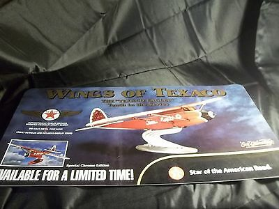 "Wings Of Texaco Store Display Sign ""eaglet"" Die-Cast Bank 24X12 Ertl"