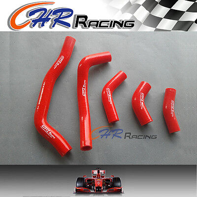 for HONDA CRF450R CRF 450 R 2005 2006 2007 2008 05 silicone radiator hose red