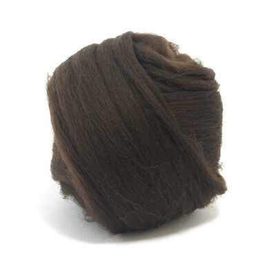 50g Dyed Merino Wool Top Mocha Brown Dreads Needle Spinning Felting Roving