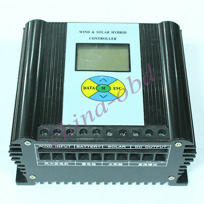 New 24 Volt Wind And Solar Power Hybrid Charge Controller 24V