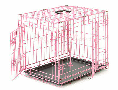 Pink Dog Crates UK, Dog Cages, training Crates, Small, Medium, Large, XL, Giant