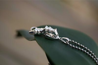 Erotic Erectable Sterling Silver Penis Pendant Necklace ~ UNISEX ~ FREE SHIP