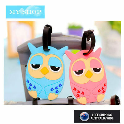 New Owl Funny Cute Name Tag, Id Lable For Luggage, Suitcase, School Bag