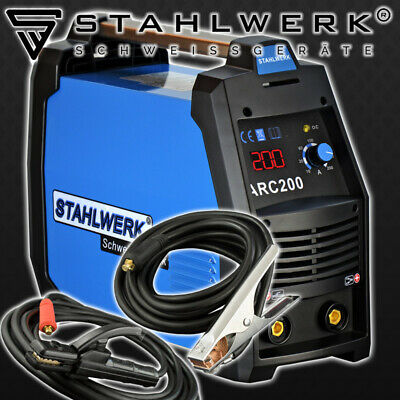 Welder STAHLWERK ARC 200 S - WELDING MACHINE ARC-STICK MMA with 200 Ampere