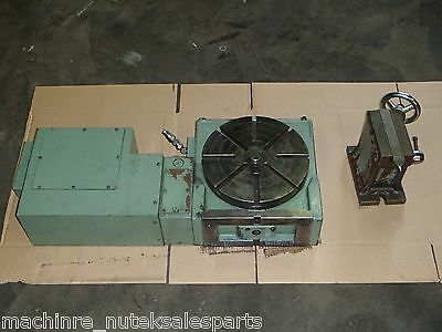 "4th Axis Rotary Table TSUDAKOMA 12"" Dia Table w Tailstock RNCV-300L _ 4 Axis"
