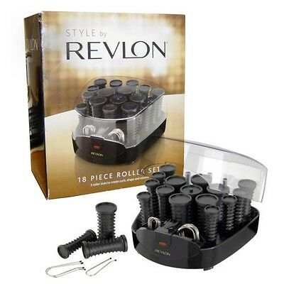 Revlon 9033U Hair Styling Heated 18 Piece Hair Curlers Roller Set Large to Small