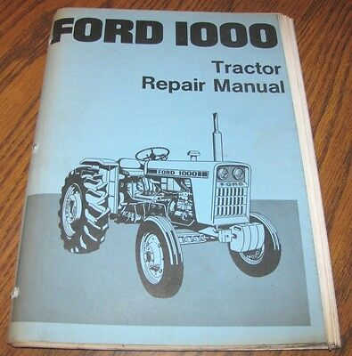 Ford 1000 Tractor Service Repair Shop Manual SE3414  Book
