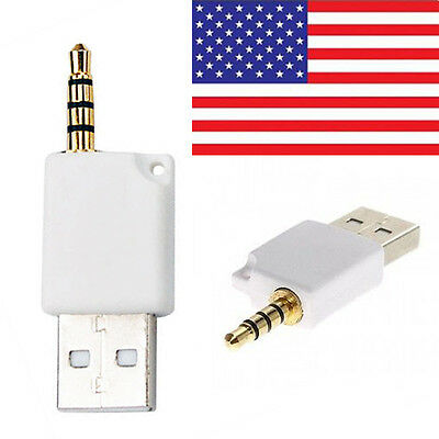Usb To 3.5Mm Jack Plug Data Charge Sync Cable For Apple Ipod Shuffle 1St 2Nd