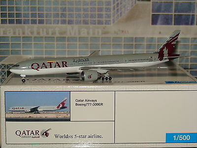 Official Inflight 1:500 Die Cast Qatar B777 -300ER New Color A7-BAB **Free S&H**