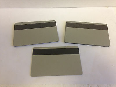 50 Silver PVC Cards - HiCo Mag Stripe 3 Track - CR80 .30 Mil for ID Printers