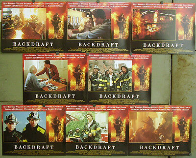 ea16 BACKDRAFT RON HOWARD KURT RUSSELL UK Lobby Set