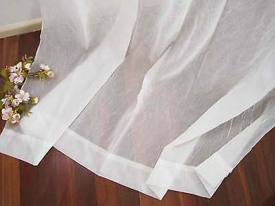 One Piece Elegant Ivory Crepe Sheer Curtain 130 x 240cm Drop NEW