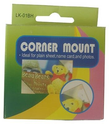 Photo Corner Clear Mounts Wedding Albums Cardmaking Scrapbooking Finish 250 Pc