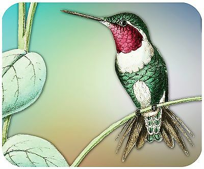 Mouse Pad Custom Personalized Thick Mousepad-Hummingbird - Add Any Text Free