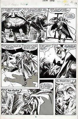 1978 Gene Colan Lilith Marvel Preview #16 Original Comic Art Page Dracula Horror