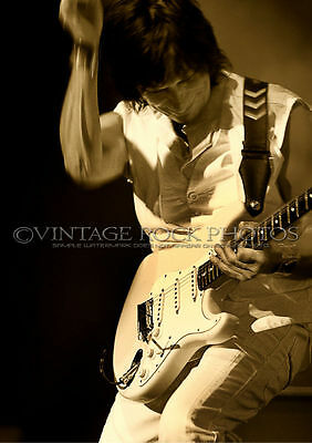 Jeff Beck Photo 8x12 or 8x10 inch '09 Live UK Concert Tour Fuji Studio Print s25