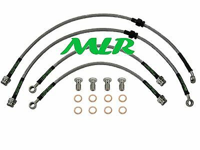 200Sx S13 Turbo Aeroquip Stainless Steel Braided Brake Lines Hoses Pipes  Mlr.ot