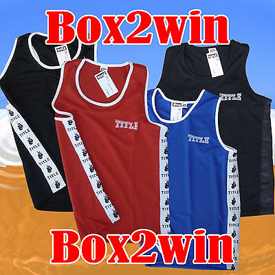 Title Club Boxing Vests Size Youths and Medium Limited Stock