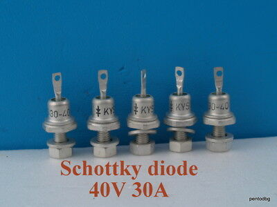 5Pcs Schottky Diode 40V 30A Kys30/40 For Blocking Battery Discharge Solar Panel